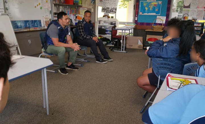 Mentoring students with Auckland Police guest speakers